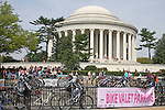 The Bike Valet Parking area next to The Jefferson Memorial, DC, National Cherry Blossom Festival
