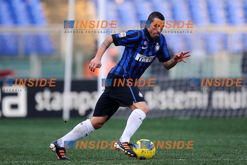 "Angelo Palombo Inter.Roma 5/2/2012 Stadio ""Olimpico"".Football Calcio 2011/2012 Serie A.Roma Vs Inter.Foto Insidefoto Andrea Staccioli"