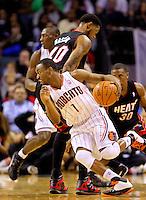 The Charlotte Bobcats vs. The Miami Heat at Time Warner Arena in Charlotte, North Carolina...Photo by: PatrickSchneiderPhoto.com