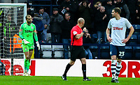 Preston North End's Michael Crowe reacts after conceding a second goal<br /> <br /> Photographer Alex Dodd/CameraSport<br /> <br /> The Emirates FA Cup Third Round - Preston North End v Doncaster Rovers - Sunday 6th January 2019 - Deepdale Stadium - Preston<br />  <br /> World Copyright &copy; 2019 CameraSport. All rights reserved. 43 Linden Ave. Countesthorpe. Leicester. England. LE8 5PG - Tel: +44 (0) 116 277 4147 - admin@camerasport.com - www.camerasport.com