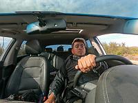 Time Lapse Luis Gutierrez Driving Car Kia. in the desert. travel..<br /> lapose de tiempo luis Gutierrez manejando auto kia. en el desierto. travel.<br /> (Photo: Luis Gutierrez / NortePhoto.com)