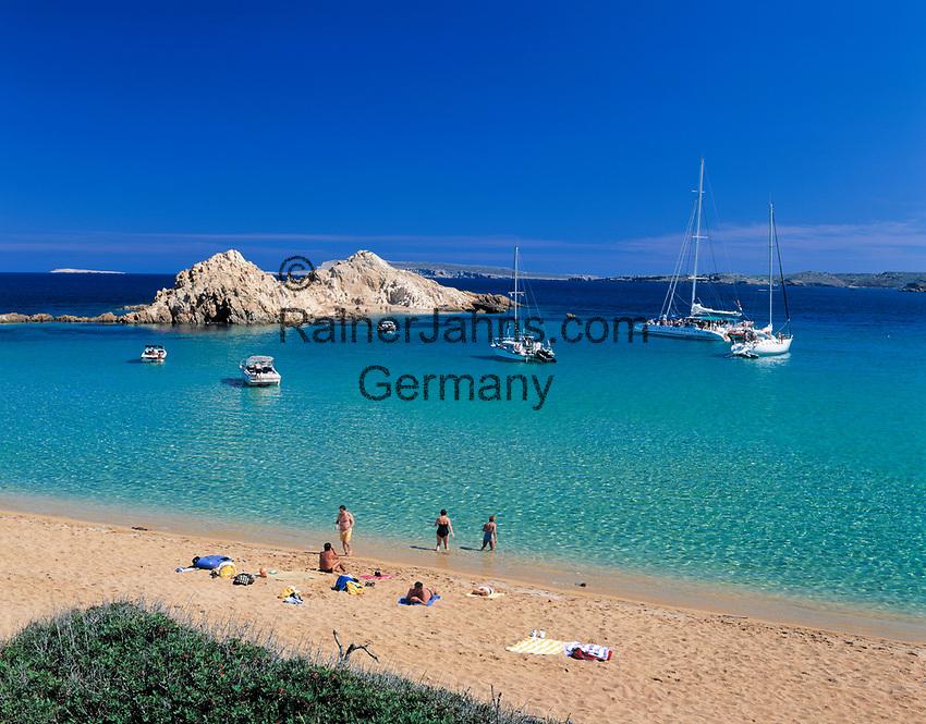 ESP, Spanien, Balearen, Menorca, Cala Pregonda: stille Bucht im Norden   ESP, Spain, Balearic Islands, Menorca, Cala Pregonda: quiet bay in the north