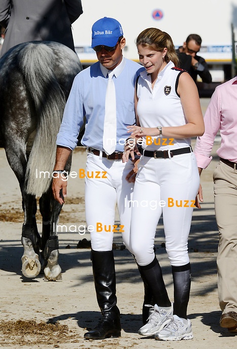 Athina Onassis and husband Doda Miranda  at the Cannes Jumping 2012. .France - Cannes, June 16, 2012.