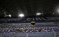 Football, Serie A: S.S. Lazio - Fiorentina, Olympic stadium, Rome, June 27, 2020. <br /> This photo shows photos of Lazio supporters placed in empty tribunes during the Italian Serie A football match Lazio vs Fiorentina on June 27, 2020 behind closed doors at the Olympic stadium in Rome, as the country eases its lockdown aimed at curbing the spread of the COVID-19 infection, caused by the novel coronavirus.<br /> UPDATE IMAGES PRESS/Isabella Bonotto