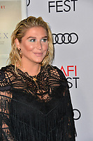 "LOS ANGELES, CA. November 08, 2018: Kesha at the AFI Fest 2018 world premiere of ""On the Basis of Sex"" at the TCL Chinese Theatre.<br /> Picture: Paul Smith/Featureflash"