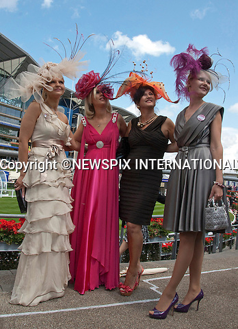 """HAT FASHION AT LADIES DAY.Royal Ascot Ladies Day, Ascot_16/11/2011.Mandatory Photo Credit: ©Shaw/NEWSPIX INTERNATIONAL..**ALL FEES PAYABLE TO: """"NEWSPIX INTERNATIONAL""""**..PHOTO CREDIT MANDATORY!!: Newspix International(Failure to credit will incur a surcharge of 100% of reproduction fees)..IMMEDIATE CONFIRMATION OF USAGE REQUIRED:.Newspix International, .31 Chinnery Hill, Bishop's Stortford, ENGLAND CM23 3PS..Tel:+441279 324672  ; Fax: +441279656877..Mobile:  0777568 1153..e-mail: info@newspixinternational.co.uk"""
