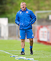 HAMILTON MANAGER BILLY REID.09/10/2011  sct_jsp012_hamilton_v_livingston  .Copyright  Pic : James Stewart.James Stewart Photography 19 Carronlea Drive, Falkirk. FK2 8DN      Vat Reg No. 607 6932 25.Telephone      : +44 (0)1324 570291 .Mobile              : +44 (0)7721 416997.E-mail  :  jim@jspa.co.uk.If you require further information then contact Jim Stewart on any of the numbers above.........