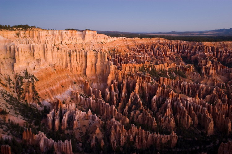 Bryce Canyon National Park, sunrise, Rock formations, hoodoos of Silent City in Ampitheater, erosion, arid, Utah, UT, Southwest America, American Southwest, US, United States, Image ut364-18194, Photo copyright: Lee Foster, www.fostertravel.com, lee@fostertravel.com, 510-549-2202