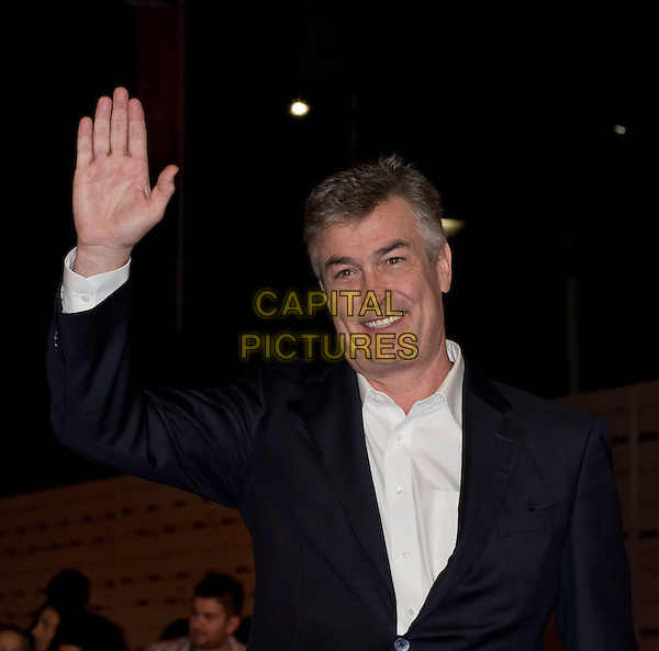 Daniel McVicar .'Un Medico In Famiglia 8' premiere during the 2012 RomaFictionFest at Auditorium Parco della Musica, Rome, Italy..October 3rd, 2012.half length black suit white shirt hand arm palm waving .CAP/IPP/FC.©FC/IPP/Capital Pictures.