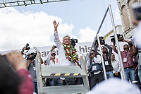 June 11, 2018: Andres Manuel Lopez Obrador, an opposition candidate of MORENA party running for presidency, arrives to his campaign rally at Comitan de Dominguez's municipality in Chiapas, Mexico. National elections will be hold on July 1.