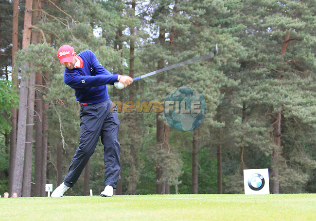 Seve Benson (ENG) tees of on the 8th tee during Day 3 of the BMW PGA Championship Championship at, Wentworth Club, Surrey, England, 28th May 2011. (Photo Eoin Clarke/Golffile 2011)
