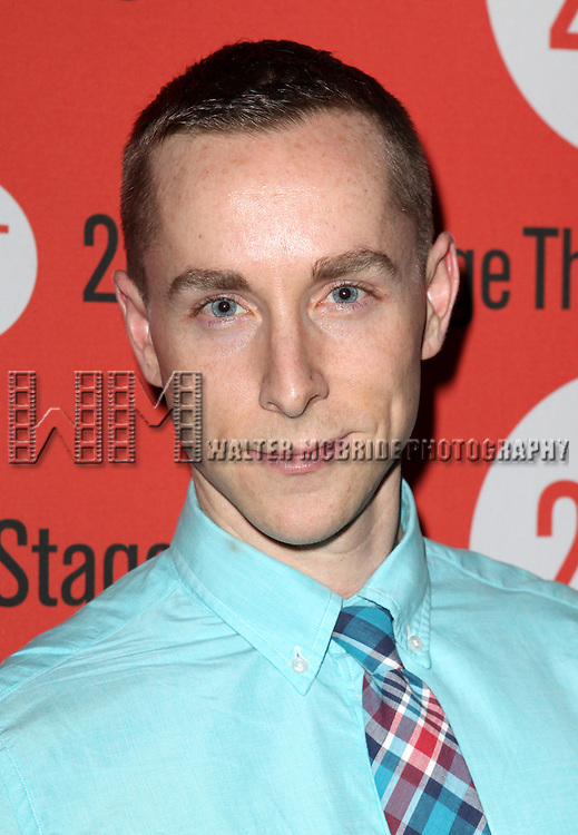Adam Halpin .attending the after Party for Off-Broadway Opening Night Performance of Second Stage Theatre's 'Dogfight' at HB Burger in New York City.