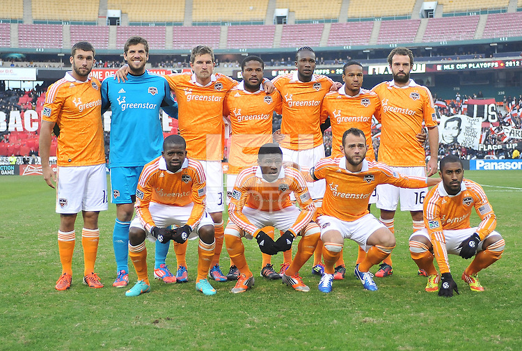 Houston Dynamo Team Photo. D.C. United tied The Houston Dynamo 1-1 but lost in the overall score 4-2 in the second leg of the Eastern Conference Championship at RFK Stadium, Sunday November 18, 2012.