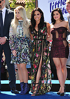 Actresses Meghan Trainor, Demi Lovato &amp; Ariel Winter at the world premiere for &quot;Smurfs: The Lost Village&quot; at the Arclight Theatre, Culver City, USA 01 April  2017<br /> Picture: Paul Smith/Featureflash/SilverHub 0208 004 5359 sales@silverhubmedia.com