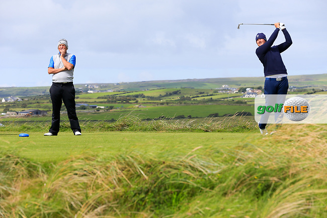 Colm Campbell (Warrenpoint) during the last 16 of the South of Ireland from Lahinch golf club, Lahinch, Co. Clare, Ireland. <br /> Picture: Fran Caffrey / Golffile
