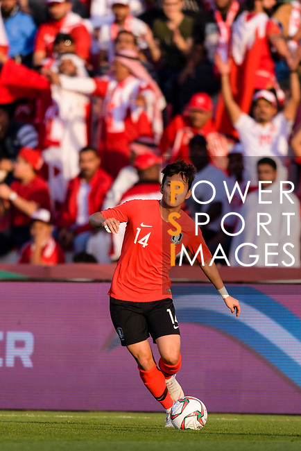 Hong Chul of South Korea in action during the AFC Asian Cup UAE 2019 Round of 16 match between South Korea (KOR) and Bahrain (BHR) at Rashid Stadium on 22 January 2019 in Dubai, United Arab Emirates. Photo by Marcio Rodrigo Machado / Power Sport Images