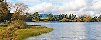 Panoramic Photo of a Beautiful Lake in the Waikato Region Near Taupo, North Island, New Zealand
