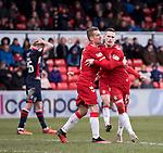 08.03.2020: Ross County v Rangers: Ryan Kent scores for Rangers and celebrates his goal