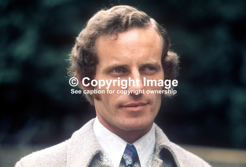 Basil Stanage, chairman, Police Federation, N Ireland, September 1973, 197309060568a<br />