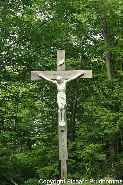 Wooden crucifix with Jesus