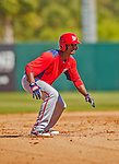 7 March 2013: Washington Nationals outfielder Michael Taylor in action during a Spring Training game against the Houston Astros at Osceola County Stadium in Kissimmee, Florida. The Astros defeated the Nationals 4-2 in Grapefruit League play. Mandatory Credit: Ed Wolfstein Photo *** RAW (NEF) Image File Available ***