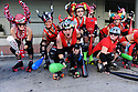 "Sixth annual San Fermin in Nueva Orleans (SFNO) festival of ""The Running of the Bulls"" featuring roller derby girls from across the country."