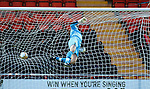 Motherwell keeper John Ruddy beaten by a Steau Stunner as Bogan Stancu fires in a long range screamer for goal no 2
