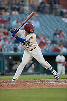 Frisco RoughRiders Tony Sanchez (55) bats during a Texas League game against the Amarillo Sod Poodles on May 16, 2019 at Dr Pepper Ballpark in Frisco, Texas.  (Mike Augustin/Four Seam Images)