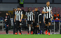 17th March 2019, Stadio San Paolo, Naples, Italy; Serie A football, Napoli versus Udinese; Seko Fofana of Udinese  celebrates after scoring his goal in the 36th minute 2-2