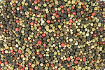 Mixed peppercorns, colored