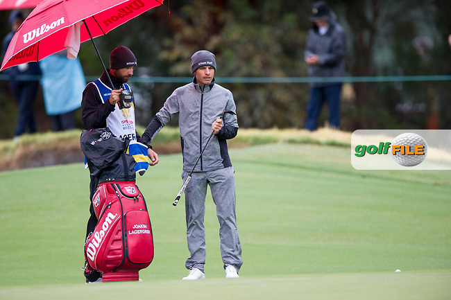 Joakim Lagergren (SWE) during the second day of the World cup of Golf, The Metropolitan Golf Club, The Metropolitan Golf Club, Victoria, Australia. 23/11/2018<br /> Picture: Golffile | Anthony Powter<br /> <br /> <br /> All photo usage must carry mandatory copyright credit (© Golffile | Anthony Powter)