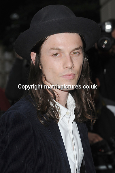 NON EXCLUSIVE PICTURE: PAUL TREADWAY / MATRIXPICTURES.CO.UK<br /> PLEASE CREDIT ALL USES<br /> <br /> WORLD RIGHTS<br /> <br /> English singer-songwriter James Bay attending the GQ Men Of The Year Awards at The Royal Opera House, in London.<br /> <br /> SEPTEMBER 8th 2015<br /> <br /> REF: PTY 152806