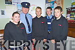 Pictured at the launch of the No Name Club road safety week in conjunction with the RSA at Killarney Garda Station on Tuesday night were Jemma Murhill, Sgt Tom Tobin, Scott O'Mahony, Garda Damien Jermyn and Jason Lyne.