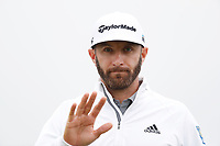 Dustin Johnson (USA) waves to the fans as he walks off the first green during the second round of the 118th U.S. Open Championship at Shinnecock Hills Golf Club in Southampton, NY, USA. 15th June 2018.<br /> Picture: Golffile | Brian Spurlock<br /> <br /> <br /> All photo usage must carry mandatory copyright credit (&copy; Golffile | Brian Spurlock)