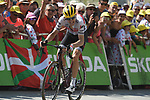 "Bauke Mollema (NED) Trek-Segafredo climbs towards the finish line in 18th place 3'29"" down atop the Col du Tourmalet at the end of Stage 14 of the 2019 Tour de France running 117.5km from Tarbes to Tourmalet Bareges, France. 20th July 2019.<br /> Picture: Colin Flockton 