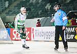 Stockholm 2015-03-14 Bandy SM-final herrar Sandvikens AIK - V&auml;ster&aring;s SK :  <br /> V&auml;ster&aring;s Johan Esplund reagerar mot ett domslut under matchen mellan Sandvikens AIK och V&auml;ster&aring;s SK <br /> (Foto: Kenta J&ouml;nsson) Nyckelord:  SM SM-final final Bandyfinal Bandyfinalen herr herrar VSK V&auml;ster&aring;s SAIK Sandviken arg f&ouml;rbannad ilsk ilsken sur tjurig angry domare referee ref diskutera argumentera diskussion argumentation argument discuss