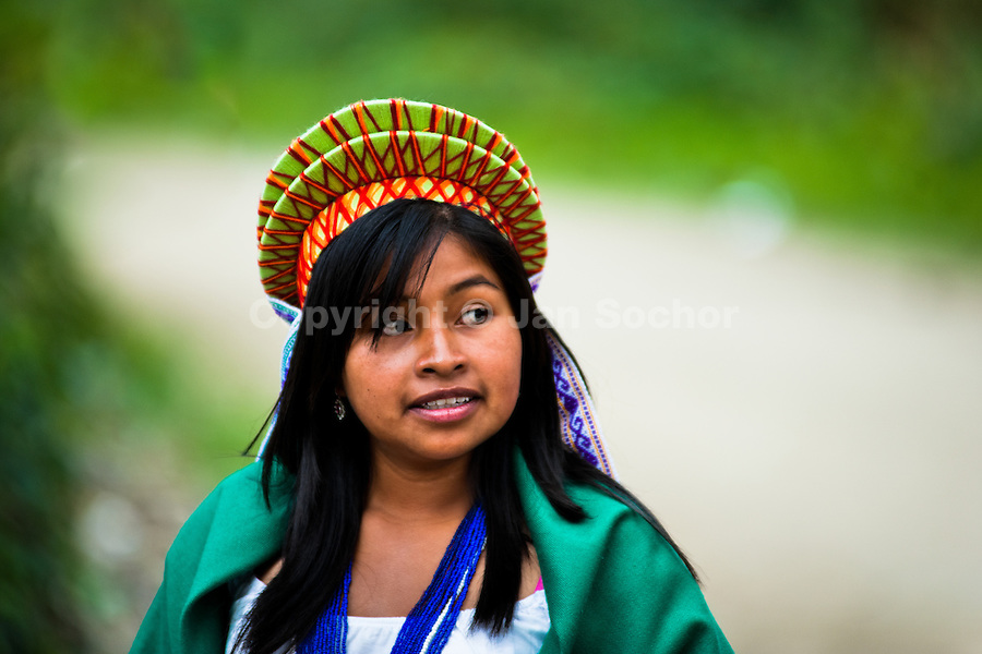 "A native from the Kamentsá tribe takes part in the Carnival of Forgiveness, a traditional indigenous celebration in Sibundoy, Colombia, 12 February 2013. Clestrinye (""Carnaval del Perdón"") is a ritual ceremony kept for centuries in the Valley of Sibundoy in Putumayo (the Amazonian department of Colombia), a home to two closely allied indigenous groups, the Inga and Kamentsá. Although the festival has indigenous origins, the Catholic religion elements have been introduced and merged with the shamanistic tradition. Celebrating annually the collaboration, peace and unity between tribes, they believe that anyone who offended anyone may ask for forgiveness this day and all of them should grant pardons."