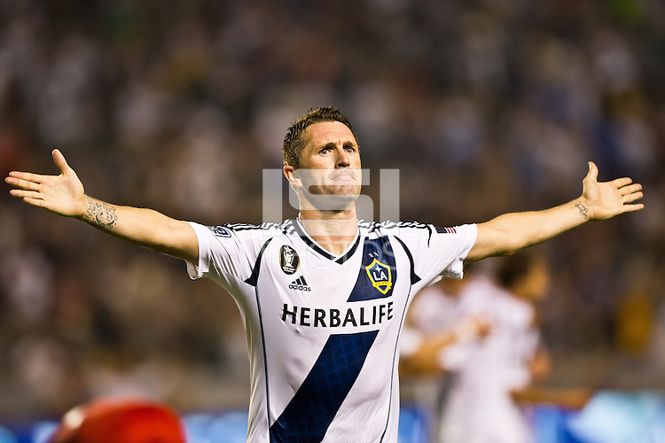 CARSON, California - September 22, 2012: The LA Galaxy defeated Toronto FC 4-2 during a Major League Soccer (MLS) game at Home Depot Center stadium.