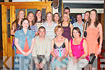 Emier Prendevlle centre, from Carruareagh Moyvane celebrated her 21st birthday with family and friends in J D's bar Ballybunion on Friday night..