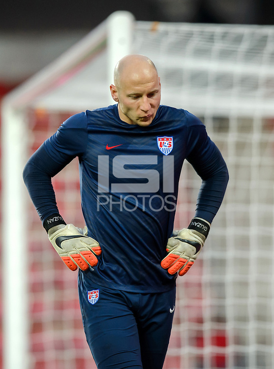 PRAGUE, Czech Republic - September 3, 2014: USA's goalie Brad Guzan during the international friendly match between the Czech Republic and the USA at Generali Arena.