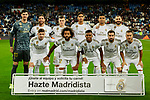Team photo of Real Madrid during La Liga match between Real Madrid and CD Leganes at Santiago Bernabeu Stadium in Madrid, Spain. October 30, 2019. (ALTERPHOTOS/A. Perez Meca)