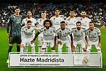 Team photo of Real Madrid during La Liga match between Real Madrid and CD Leganes at Santiago Bernabeu Stadium in Madrid, Spain. October 30, 2019. (ALTERPHOTOS/A. Perez Meca)