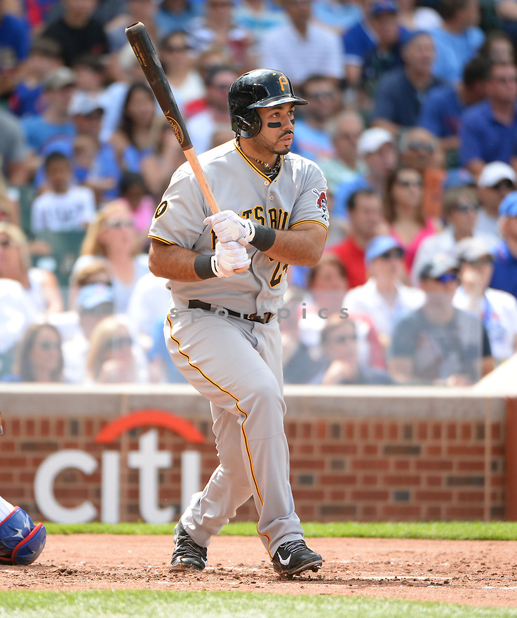 Pittsburgh Pirates Pedro Alvarez (24) during a game against the Chicago Cubs on June 20, 2014 at Wrigley Field in Chicago, IL. The Cubs beat the Pirates 6-3.