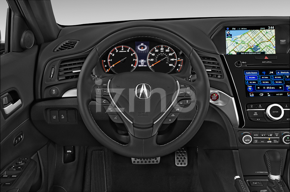 Car pictures of steering wheel view of a 2017 Acura ilx Tech Plus and A Spec Package 4 Door Sedan
