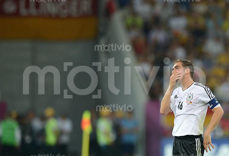 FUSSBALL  EUROPAMEISTERSCHAFT 2012   VORRUNDE Daenemark - Deutschland       17.06.2012 Philipp Lahm (Deutschland)