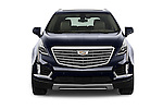 Car photography straight front view of a 2017 Cadillac XT5 AWD-Platinum 5 Door SUV Front View