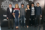 "Jaime Blanch, Cayetana Guillen Cuervo, Rodolfo Sancho, Aura Garrido, Nacho Fresneda and Julian Villagran attend the ""El Ministerio Del Tiempo"" Tv Series Presentation at Cineteca Of the Matadero, Madrid,  Spain. February 19, 2015.(ALTERPHOTOS/)Carlos Dafonte)"
