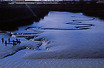 AE2CHC Dark meanders through salt marsh mudflats at low tide