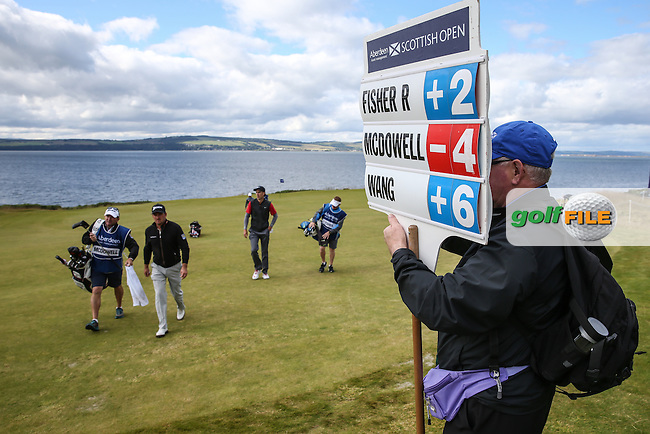 Graeme McDowell (NIR) rising through the field during Round Two of the 2016 Aberdeen Asset Management Scottish Open, played at Castle Stuart Golf Club, Inverness, Scotland. 08/07/2016. Picture: David Lloyd | Golffile.<br /> <br /> All photos usage must carry mandatory copyright credit (&copy; Golffile | David Lloyd)