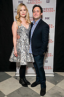 """NEW YORK - FEBRUARY 13: Caitlin Mehner and Executive Producer Danny Strong attend a screening of FOX's """"Proven Innocent"""" at The Paley Center for Media on February 13, 2019 in New York City. (Photo by Ben Hider/Fox/PictureGroup)"""